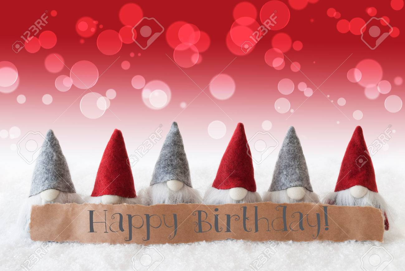 Label With English Text Happy Birthday Christmas Greeting Card Stock Photo Picture And Royalty Free Image Image 65145832