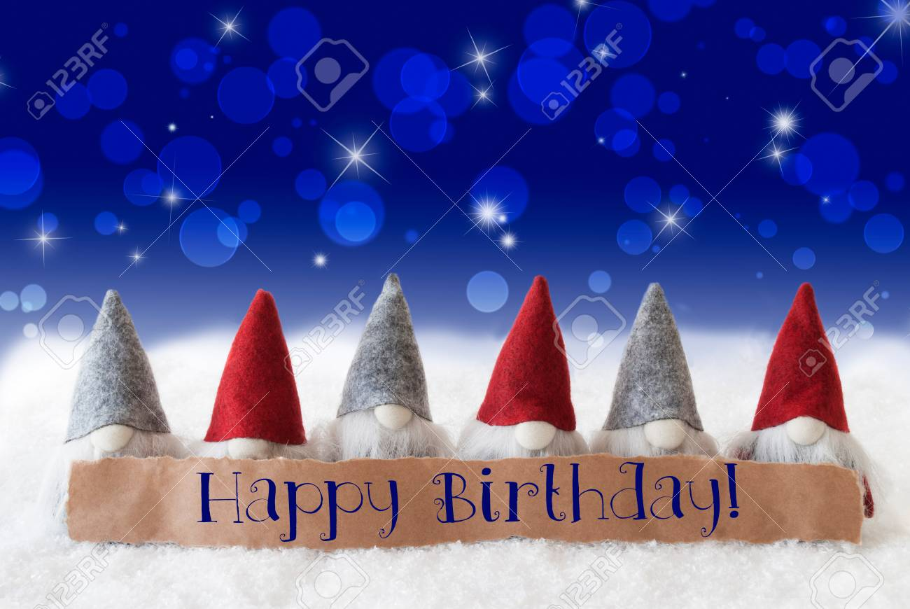 Label With English Text Happy Birthday Christmas Greeting Card Stock Photo Picture And Royalty Free Image Image 66350562