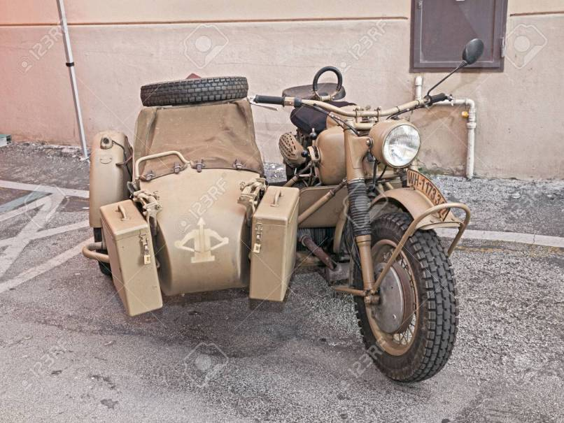 Old Bmw R75 750 Cc World War Ii Era Motorcycle With Sidecar Made In Germany