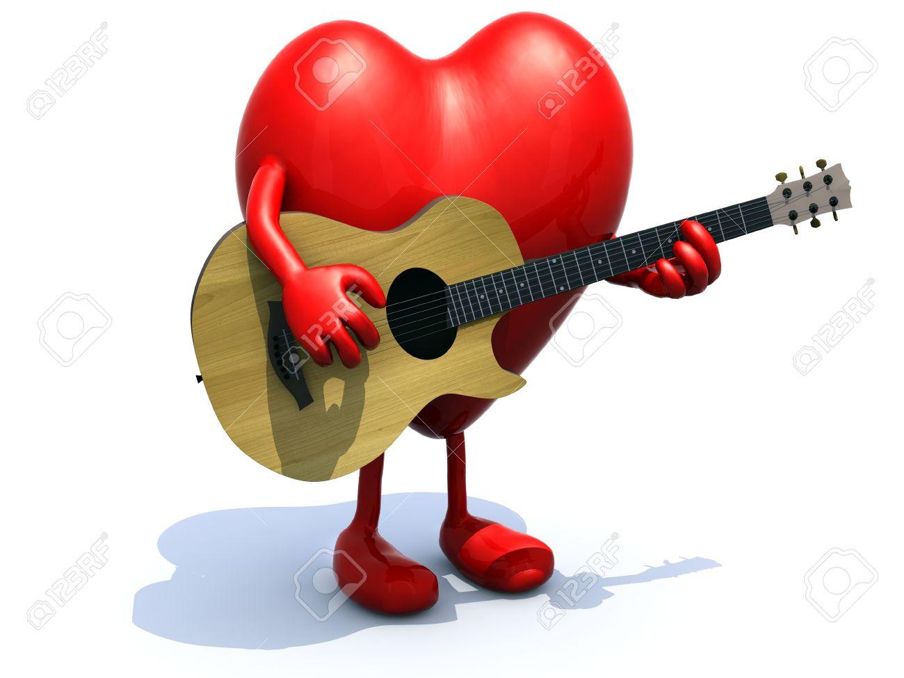 Risultati immagini per chitarra cuore