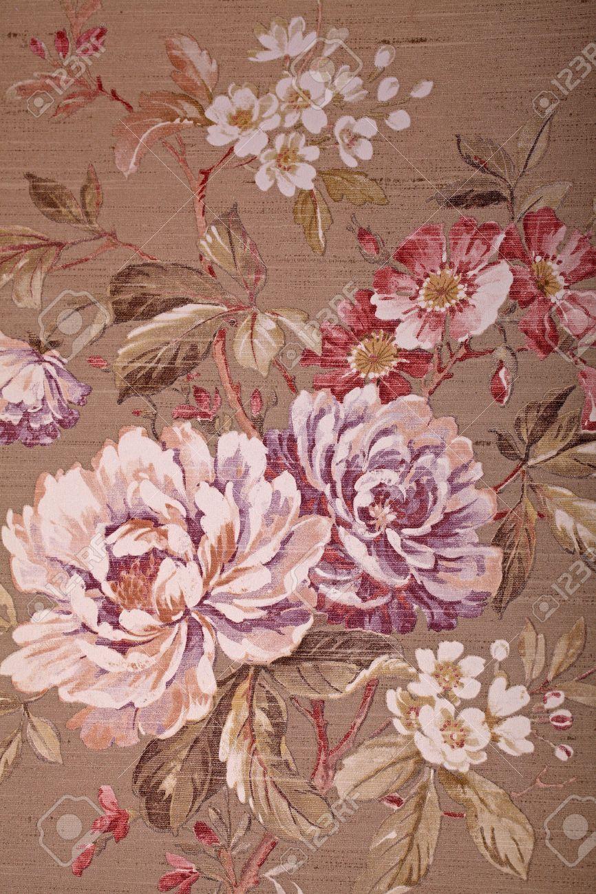 vintage shabby chic avec fond d ecran marron multicolore motif floral victorien