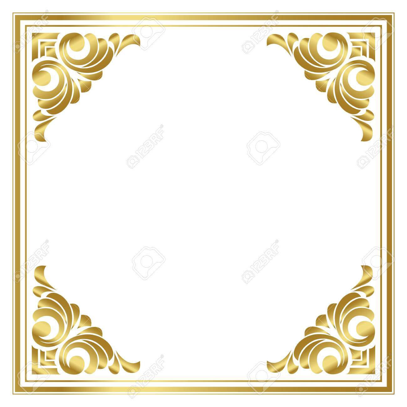 vector trendy design template for wedding or birthday invitation