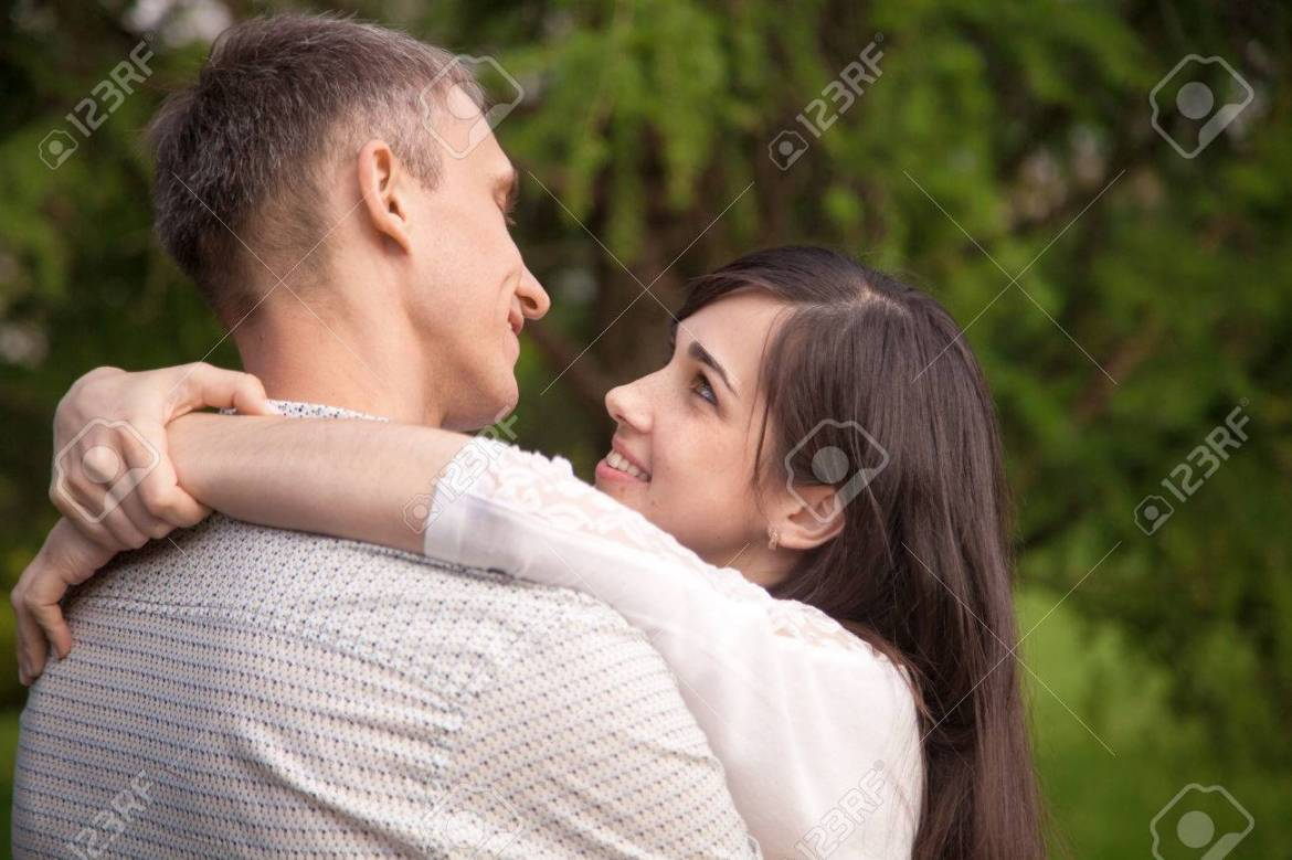 Couple Of Lovers On A Date In Park, Standing Face To Face, Talking,.. Stock  Photo, Picture And Royalty Free Image. Image 41618368.