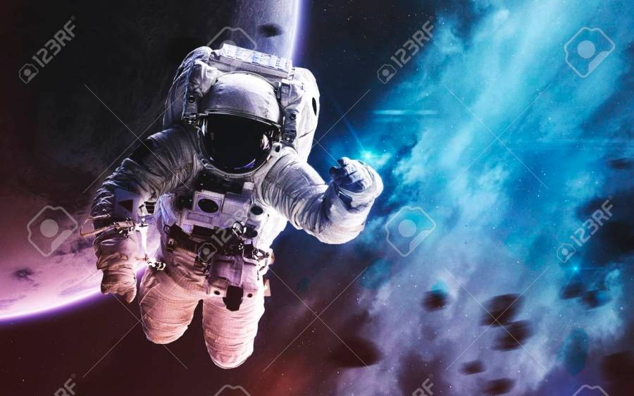 Astronaut  Deep Space Image  Science Fiction Fantasy In High   Stock     Deep space image  science fiction fantasy in high resolution ideal for  wallpaper and