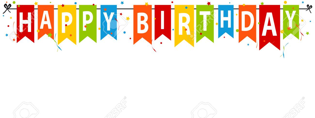Happy Birthday Banner Editable Vector Illustration Royalty Free Cliparts Vectors And Stock Illustration Image 96855533