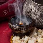 Frankincense Burning On A Hot Coal Frankincense Is An Aromatic Stock Photo Picture And Royalty Free Image Image 92865212