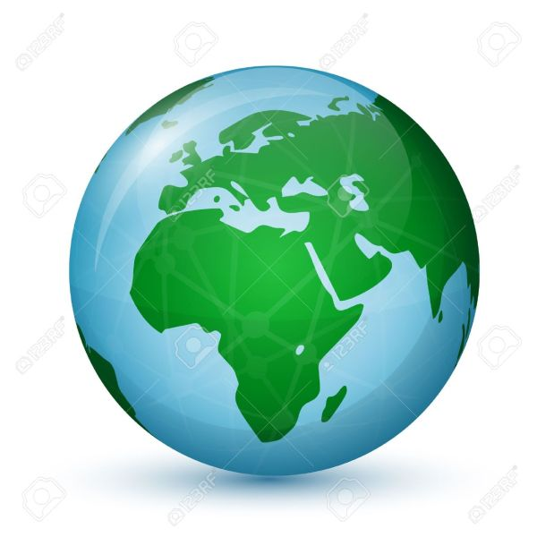 World Globe Map   Africa And Europe Global Communication Concept     Illustration   World Globe Map   Africa and Europe Global communication  concept Vector illustration