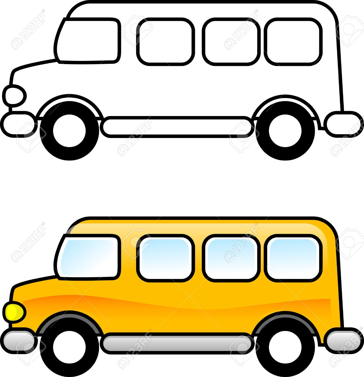 school bus printable coloring page for children or you can