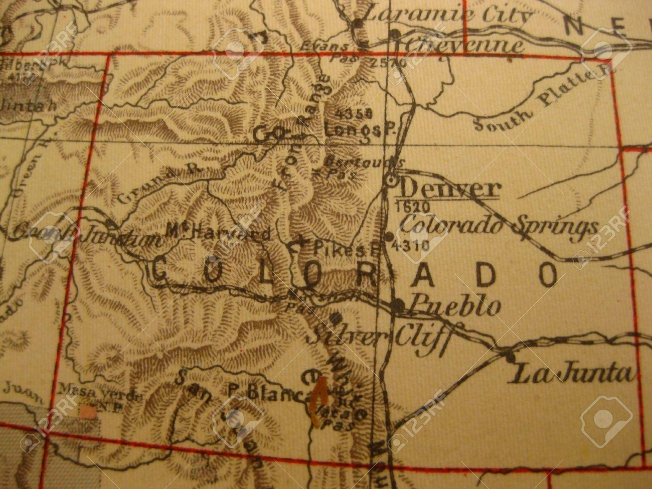 images for vintage colorado map