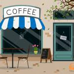 Modern Cafe Shop Exterior Street Cafe Outdoor Terrace Flat Design Royalty Free Cliparts Vectors And Stock Illustration Image 127561466