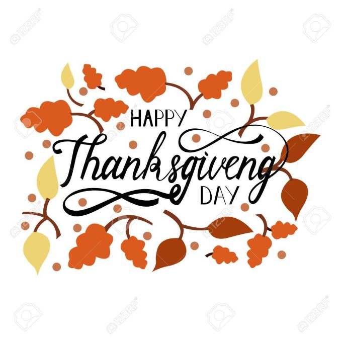 Hand Drawn Thanksgiving Lettering Greeting Phrase Happy Thanksgiving..  Royalty Free Cliparts, Vectors, And Stock Illustration. Image 86917948.