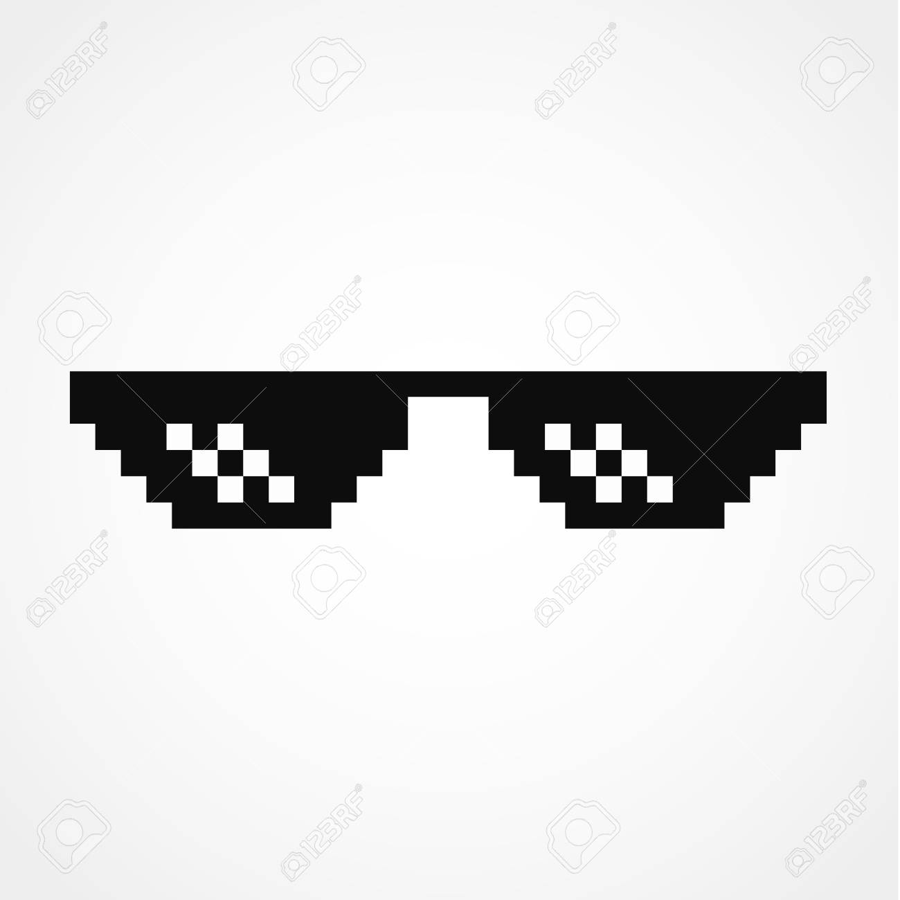 Pixel Art Glasses Of Thug Life Meme Royalty Free Cliparts Vectors And Stock Illustration Image 96725706