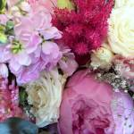 Pink Bouquet With Peonies And Pink And White Roses A Bouquet Stock Photo Picture And Royalty Free Image Image 130354125
