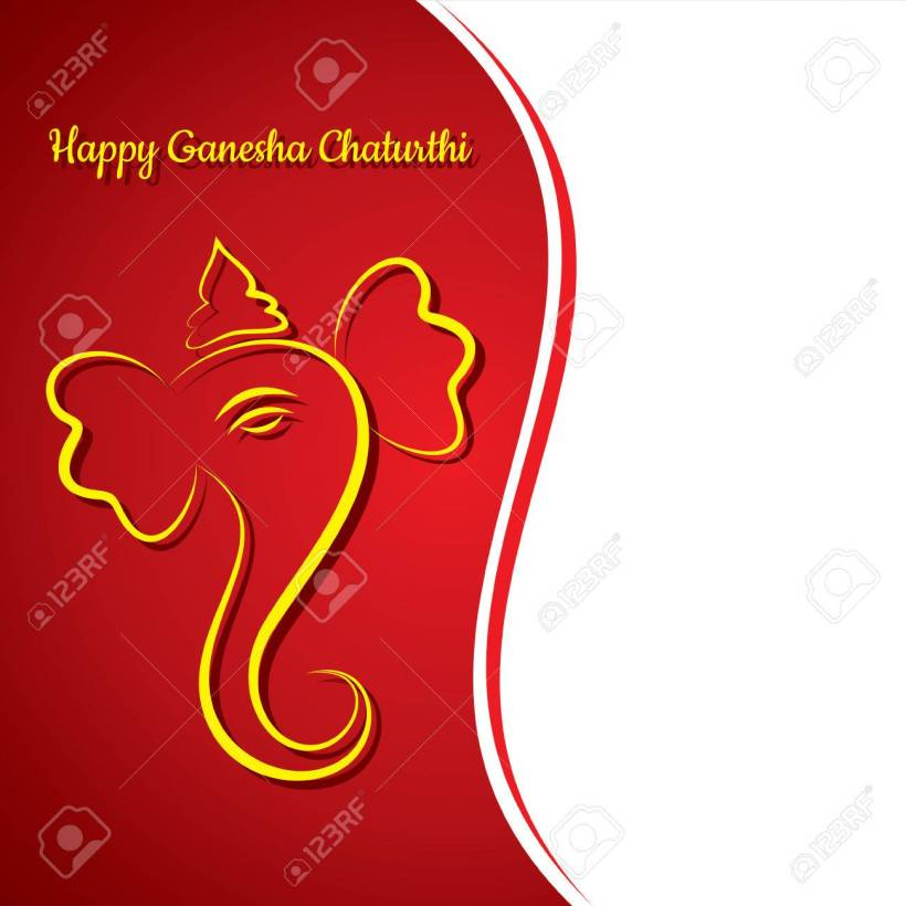 Creative Ganesh Chaturthi Festival Greeting Card Background Vector Stock 43462420