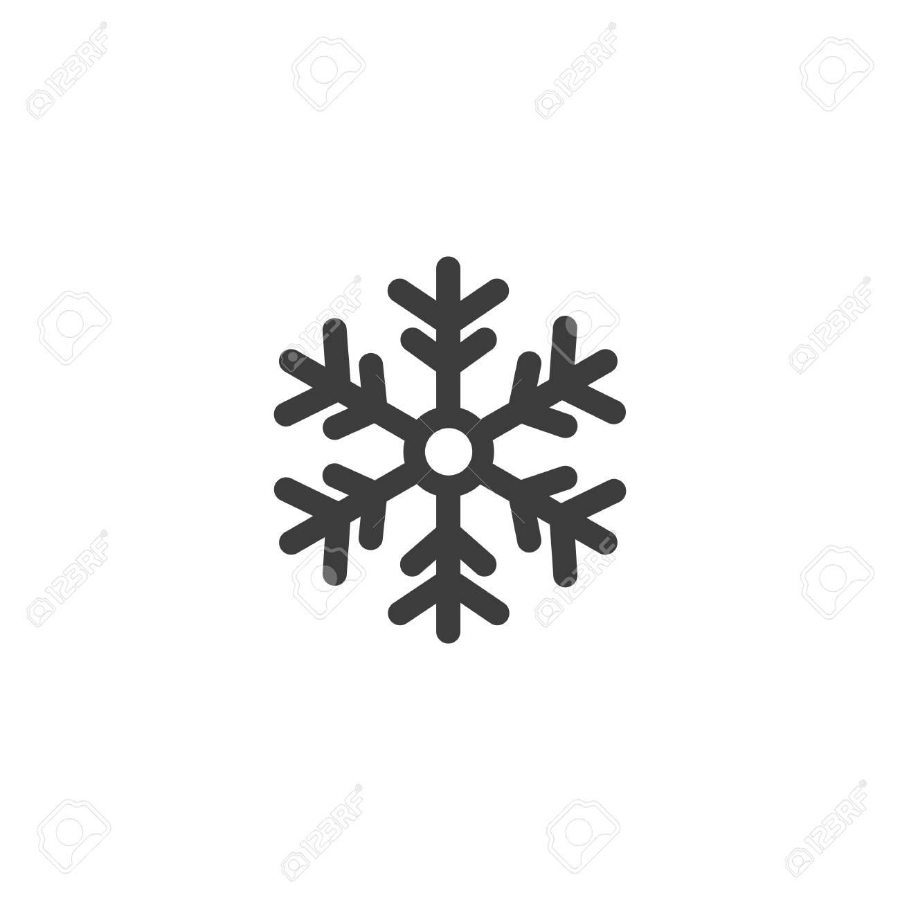 Flocon De Neige Snowflake Vector Isole Sur Fond Blanc Clip Art Libres De Droits Vecteurs Et Illustration Image 60582622