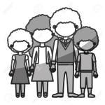 Silhouette Monochrome Shading Faceless Curly Hair Family Group Royalty Free Cliparts Vectors And Stock Illustration Image 77938832