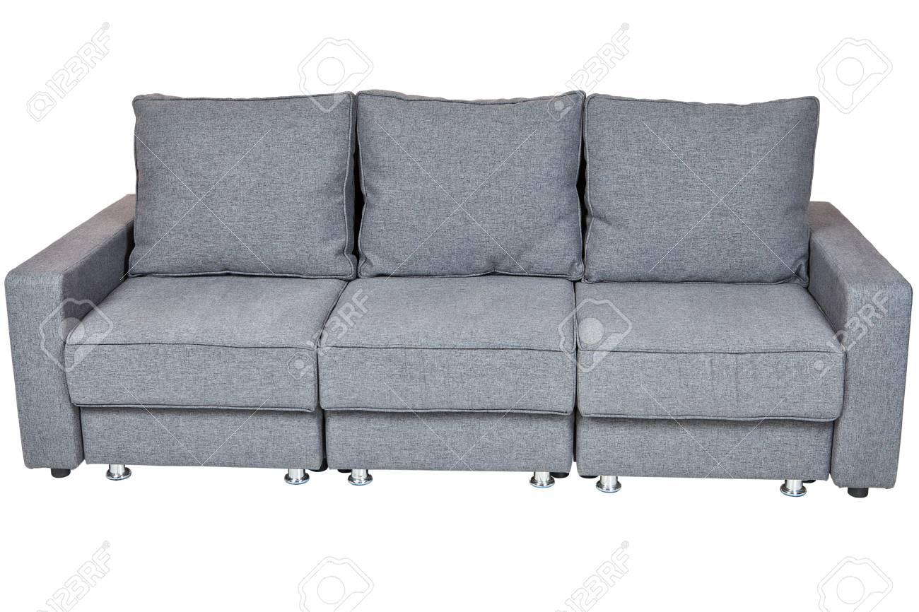 canapes de salon meubles convertibles en tissu canape lit futon couleur gris fonce isole sur fond blanc comprennent un trace de detourage banque d images et photos libres de droits image 69009730