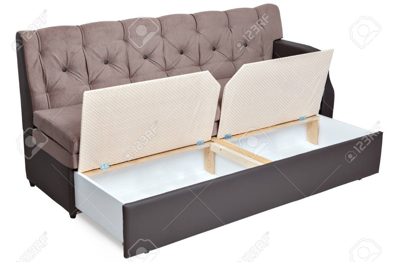 banque d images canape lit pliant avec espace de rangement isole sur fond blanc selection de chemin enregistre