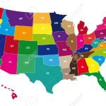 Detail Color Map Of Usa With Name Of States Royalty Free Cliparts Vectors And Stock Illustration Image 9255648