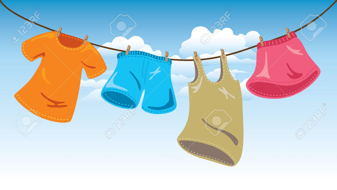 Image result for clothes on a hanging line