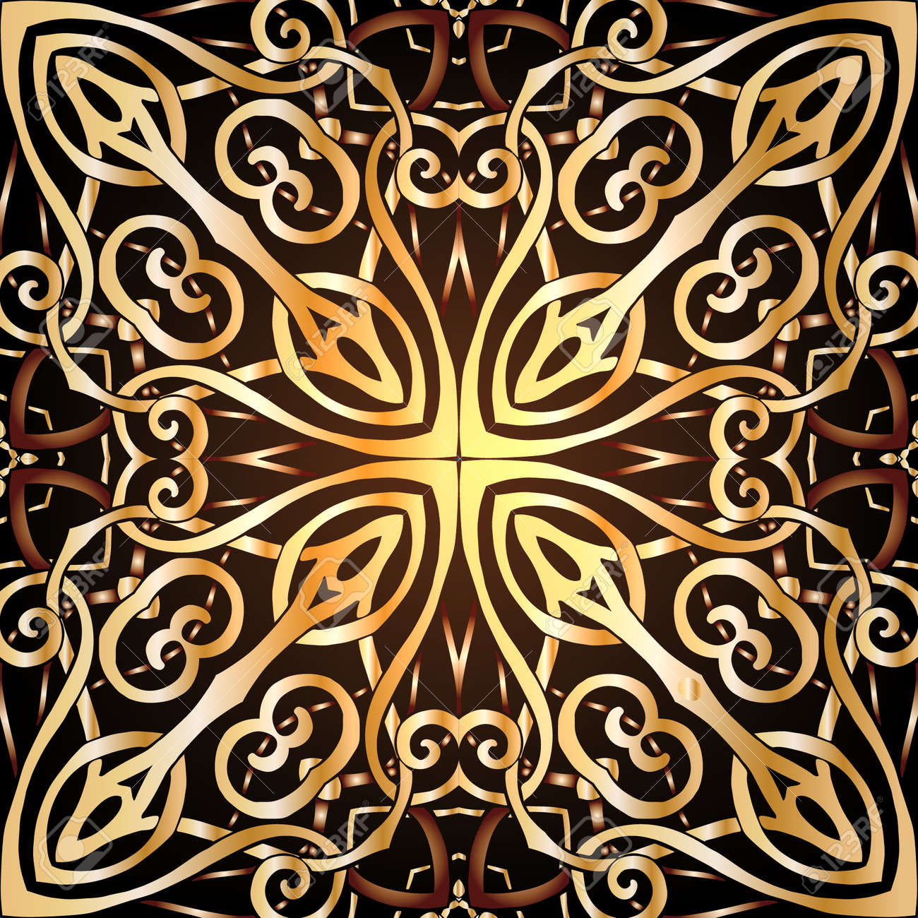 Decorative Seamless Pattern In Gold Color In Art Deco Style Royalty Free Cliparts Vectors And Stock Illustration Image 58125702