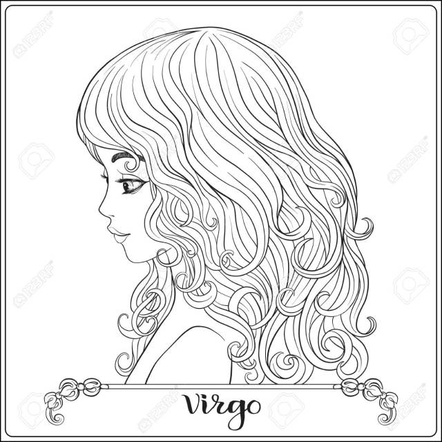 Virgo: A Young Beautiful Girl In The Form Of One Of The Signs Of