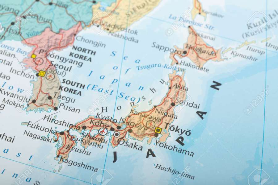 Japan Map Geography Detail Concept Stock Photo  Picture And Royalty     Japan map geography detail concept Stock Photo   57020702