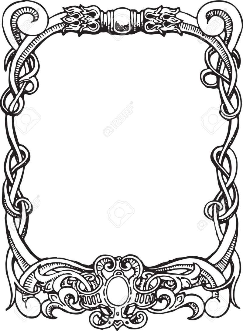 Beautiful Decorative Fl Frame Art Nouveau Design Element Stock Vector 15859721