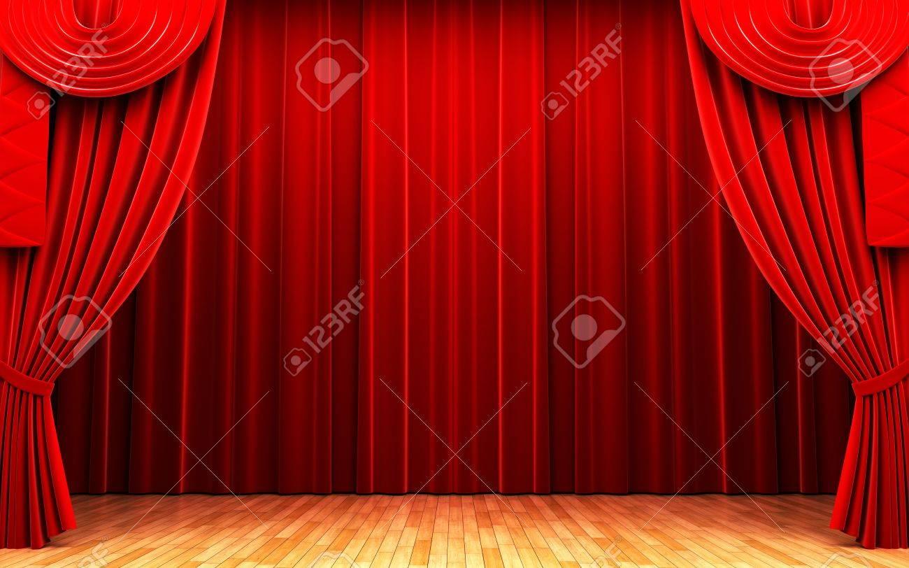 rideau de velours rouge scene d ouverture