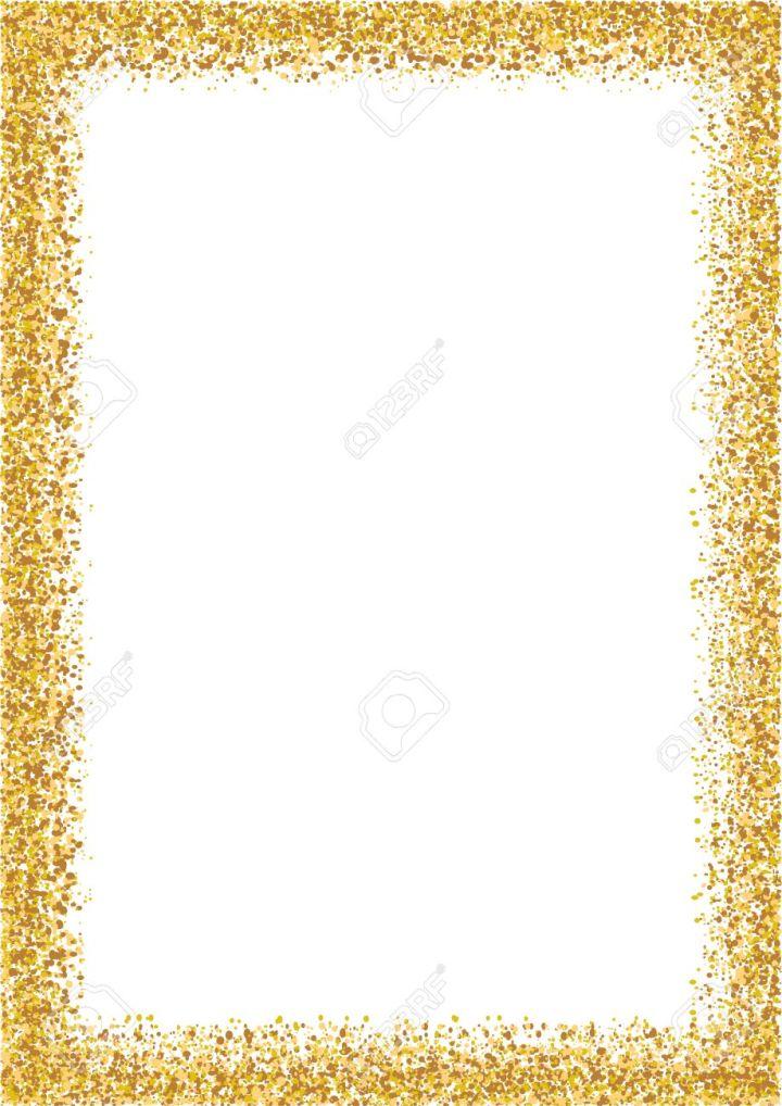 Gold Glitter Photo Frames Frameswall