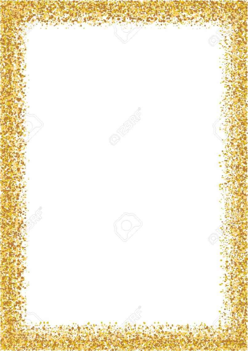 Gold Glitter Photo Frames | Frameswalls.org