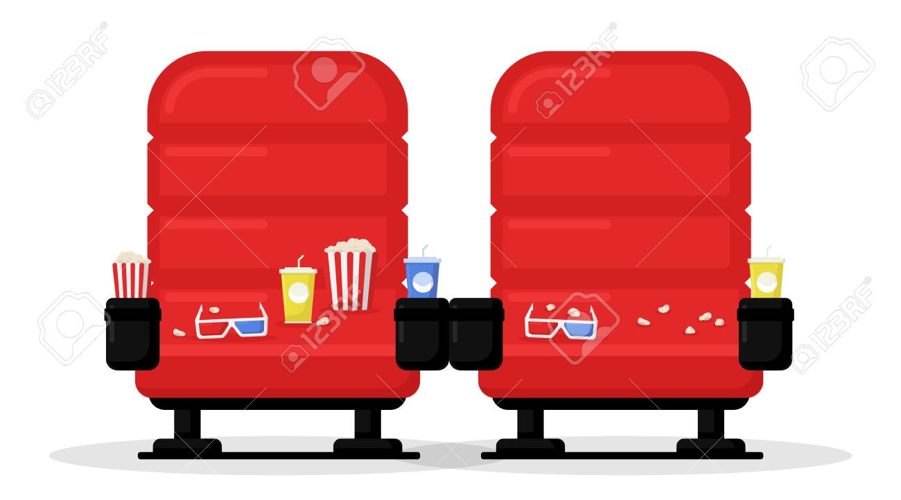 Cinema Seats Isolated On White Background Simple Modern Cartoon Royalty Free Cliparts Vectors And Stock Illustration Image 114297108