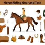 Equestrian Sport Equipment Set Horse Riding Gear And Tack Accessories Royalty Free Cliparts Vectors And Stock Illustration Image 66013696