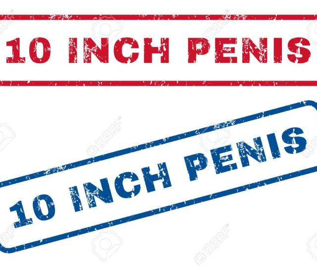 Inch Penis Text Rubber Seal Stamp Watermarks Vector Style Is Blue And Red Ink