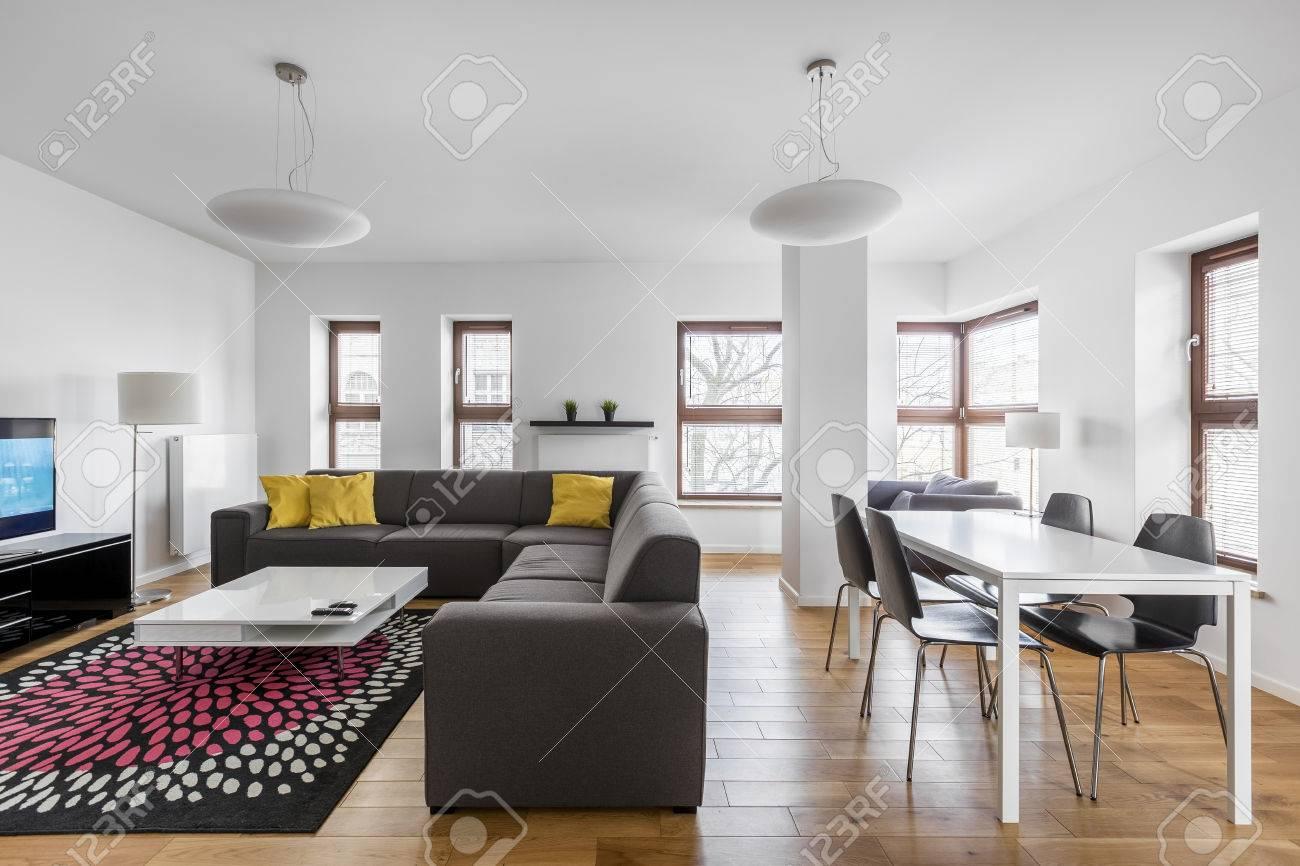 appartement moderne avec salle a manger et salon combines banque d images et photos libres de droits image 81159030