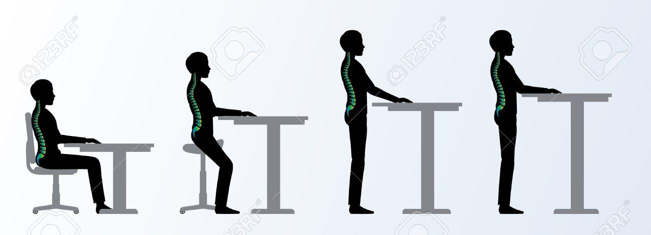 banque d images ergonomique hauteur bureau reglable ou une table assise et debout pose d un homme chaise saddle