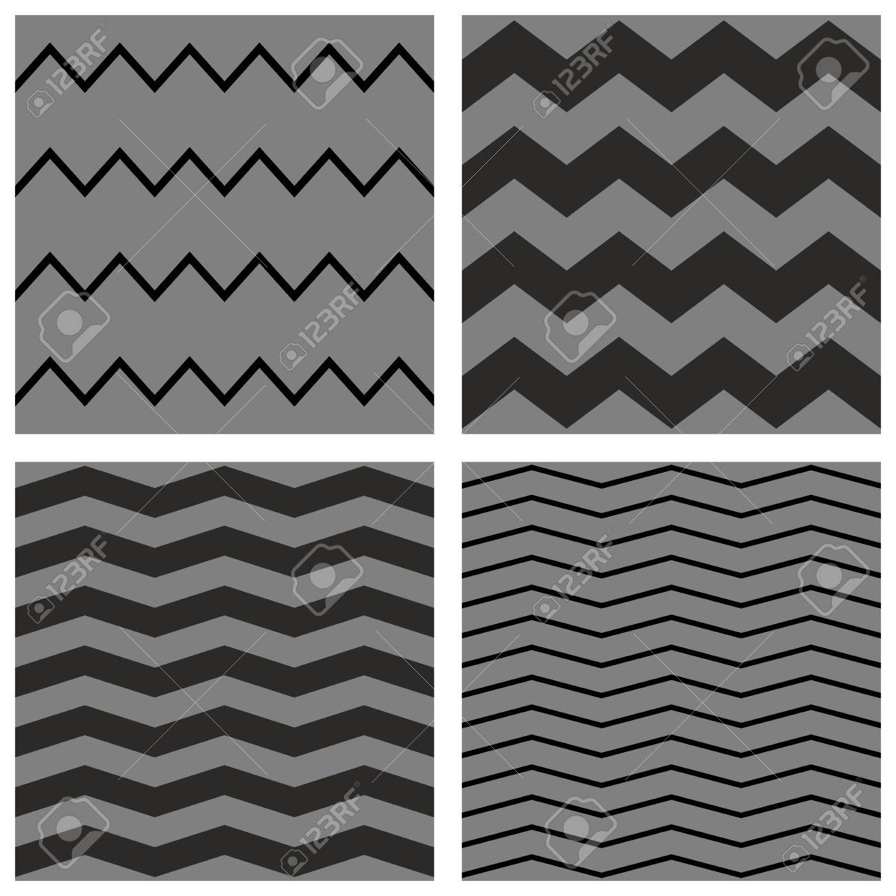 chevron tile vector pattern set with black and gray zig zag background royalty free cliparts vectors and stock illustration image 39770049
