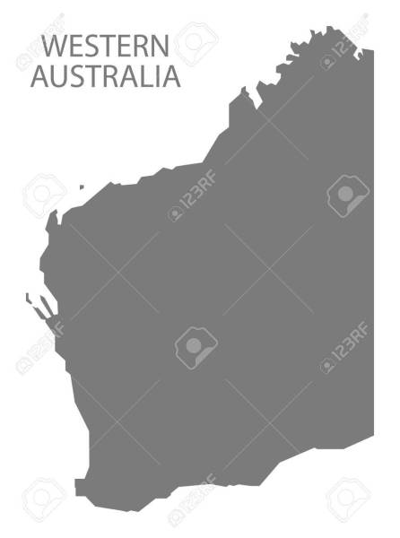 Western Australia Map Grey Royalty Free Cliparts  Vectors  And Stock     Vector   Western Australia Map grey