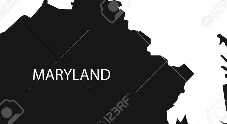 HD Decor Images » Maryland USA Map Black Inverted Silhouette Royalty Free Cliparts     Maryland USA Map black inverted silhouette Stock Vector   71809414
