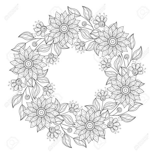 wreath template free # 48