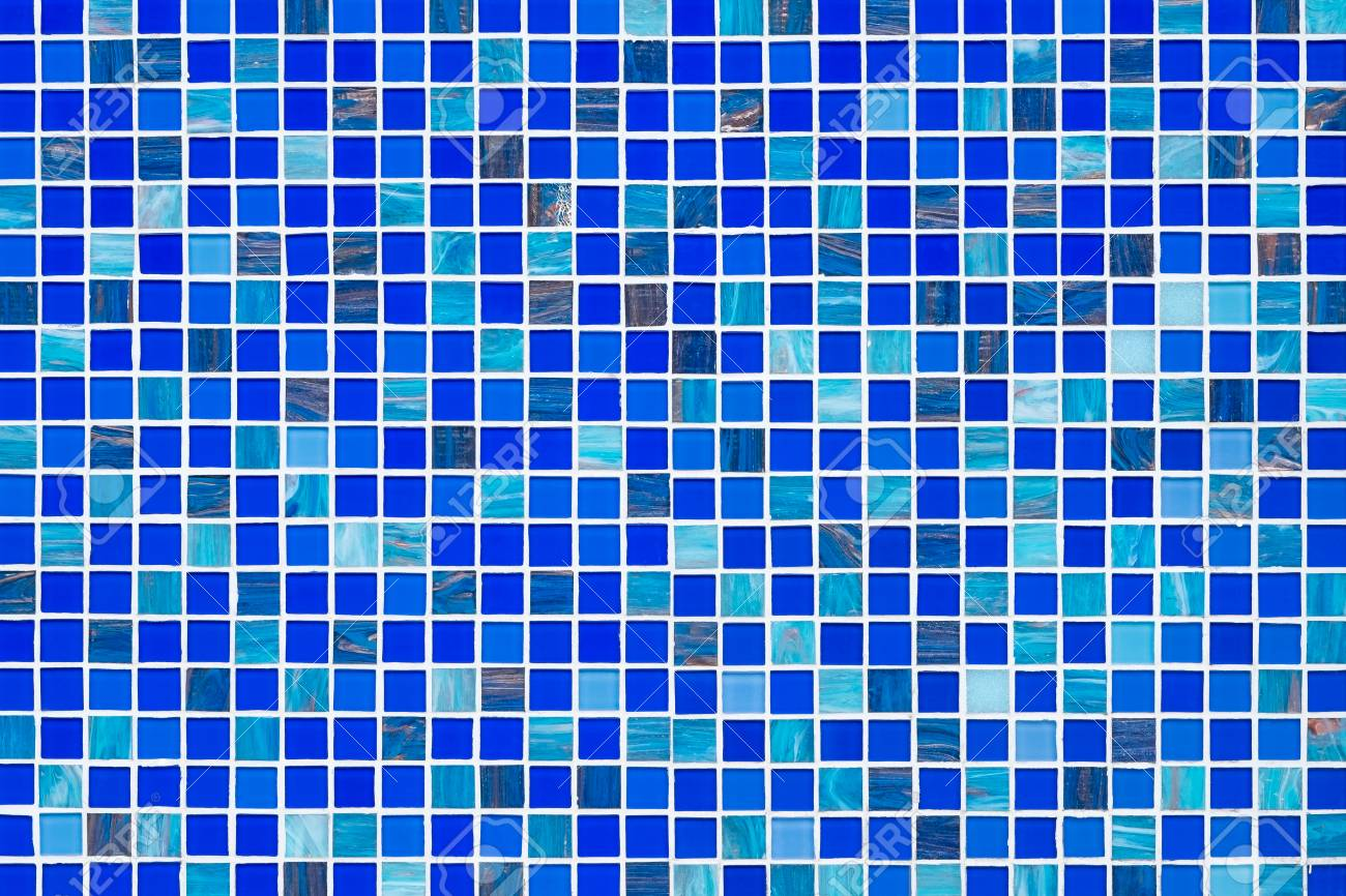 blue glass mosaic tiles texture