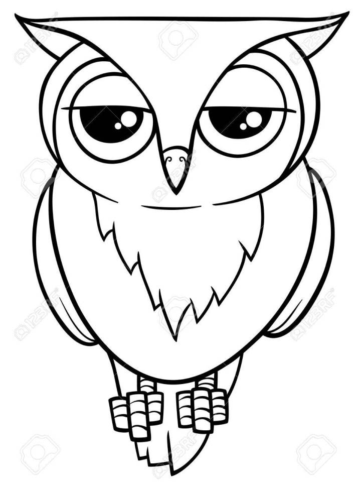 Black And White Cartoon Ilration Of Funny Owl Bird Animal This Free Printable Clipart