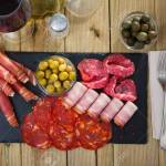 Chorizo Fuet Jamon Salami Bacon Spanish Meat Antipasto Platter Stock Photo Picture And Royalty Free Image Image 127436135