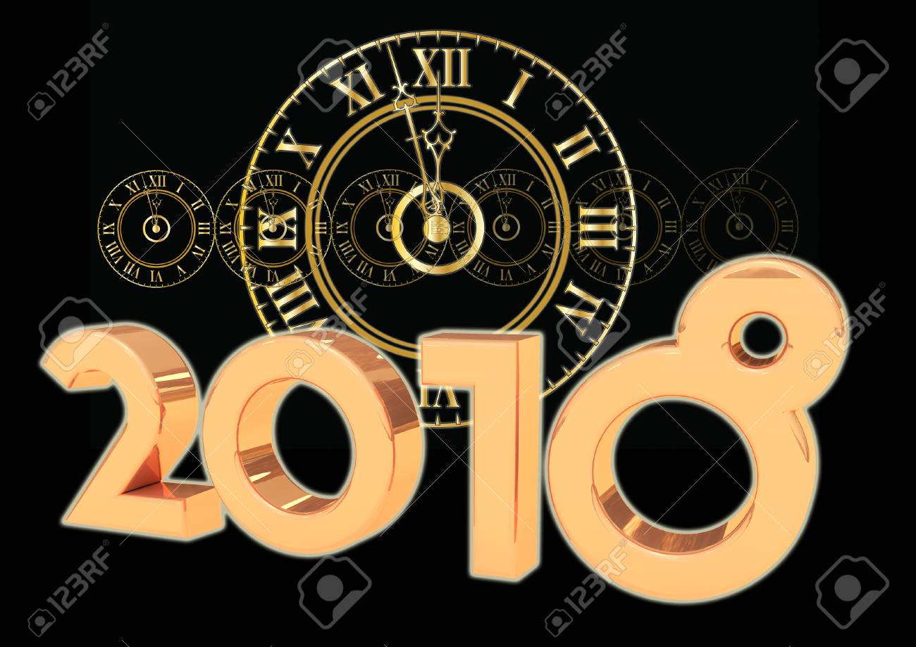 2018 New Year Clock Stock Photo  Picture And Royalty Free Image     2018 new year Clock Stock Photo   90338422