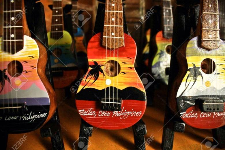 guitar souver items only in cebu philippines stock photo, picture
