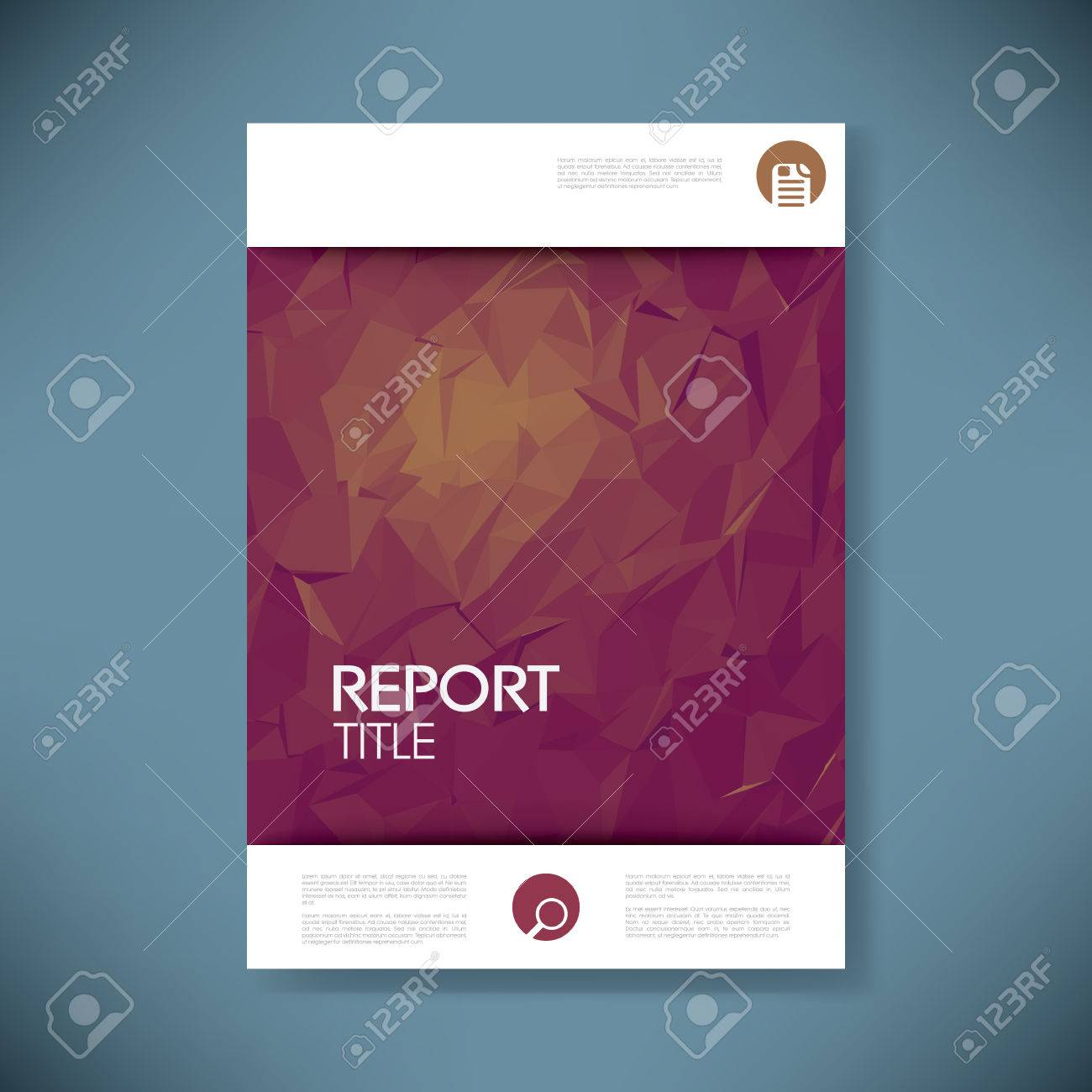 Report Title Page Template professional report cover page report – Annual Report Cover Page Template