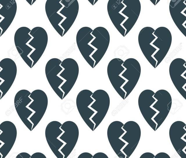 Abstract Black Retro Broken Heart Love Texture Background Wallpaper Vector Stock Vector