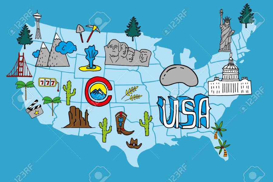 Arizona Travel Illustrated Map Edi Maps Full Hd Maps