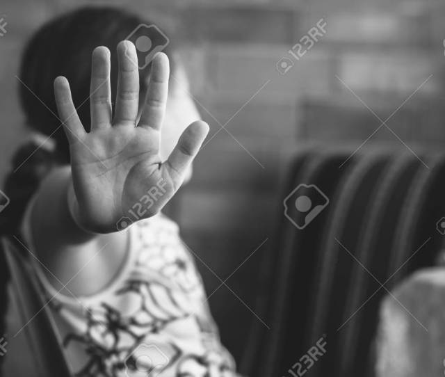 Children Violence And Abused Concept Stock Photo