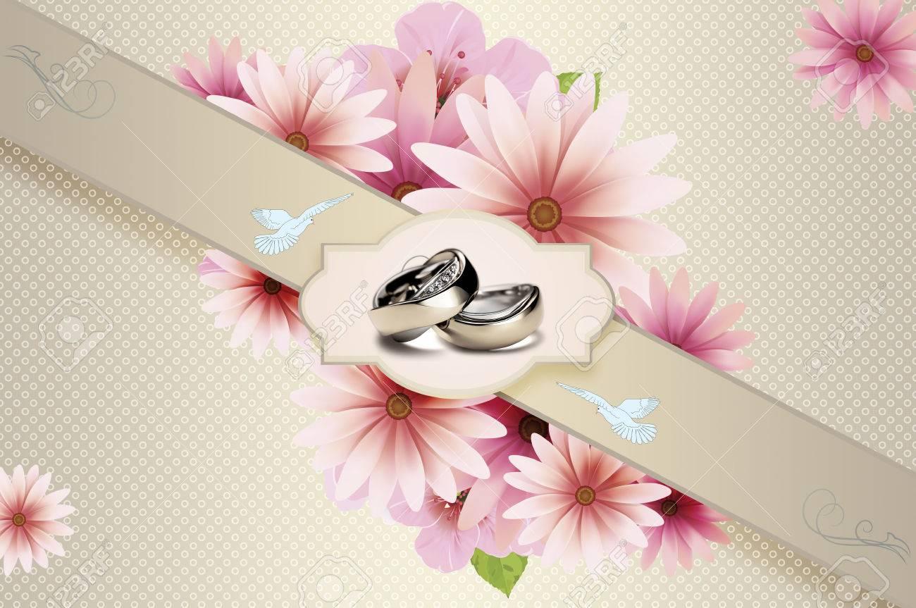 elegant floral background with decorative frame for the design